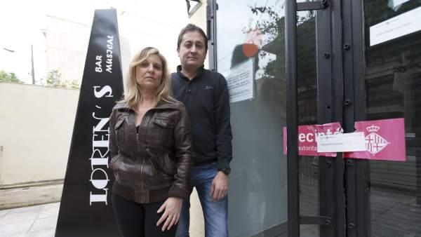 Mercè García y su marido.