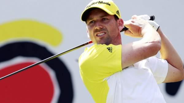 Sergio García, durante el  Abierto de España de golf 2013