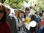 Venta de libros en la Rambla de Barcelona