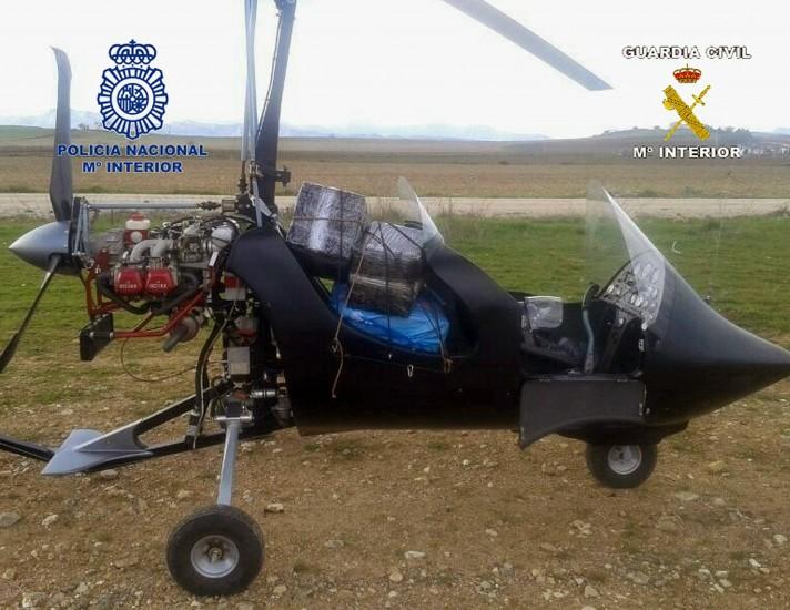 Interceptado un autogiro cargado con 110 kilos de hachís