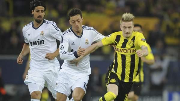 Reus, Özil y Khedira en el Dortmund - Madrid