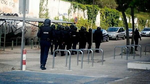 Antidisturbios en la Complutense
