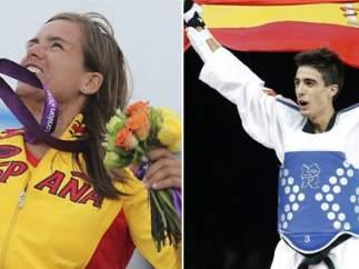 Los deportistas Marina Alabau y Joel González
