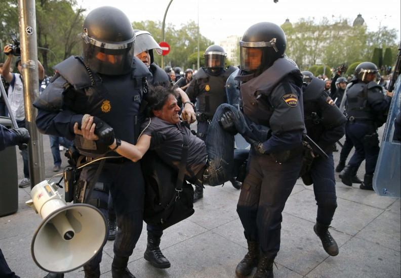 Un manifestante detenido