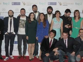 Miembros del equipo de El Intermedio (La Sexta) recogen el premio