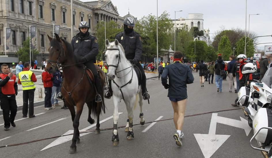 Maratón de Madrid. Medidas de seguridad en el maratón de Madrid.