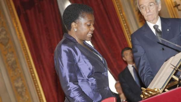 Cecile Kyenge jurando su cargo