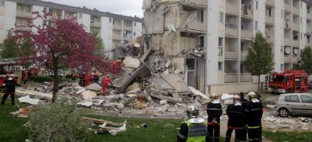 Edificio derrumbado en Reims