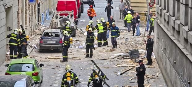Explosión en Praga