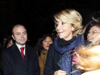 Carromero junto a Esperanza Aguirre