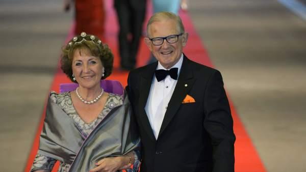 La princesa Margarita y su esposo