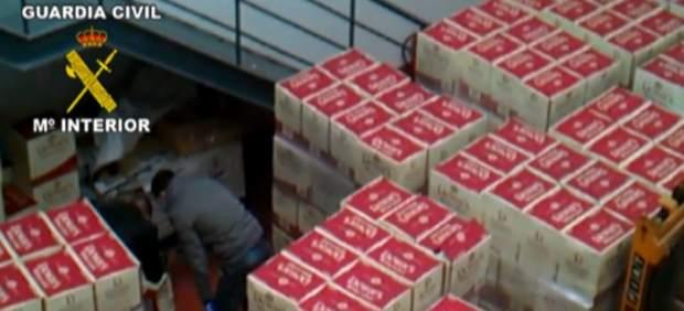Cajas de whisky incautado por robo