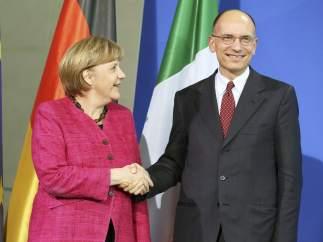 Merkel y Letta