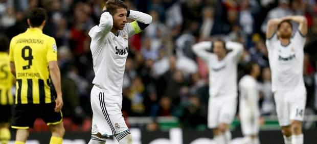 Ramos se lamenta en el Madrid - Dortmund