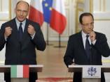 Hollande y Letta