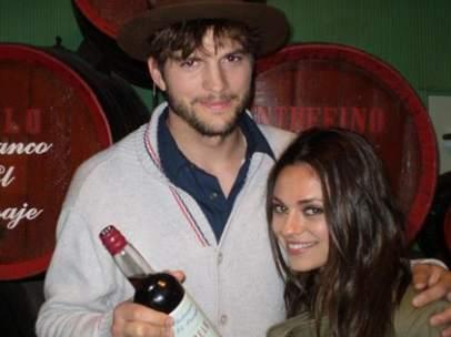 Ashton Kutcher y Mila Kunis en Jerez