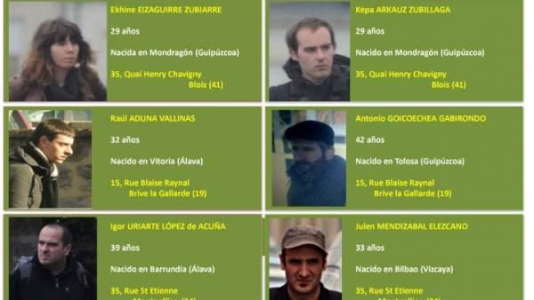 Etarras del aparato logístico detenidos en mayo de 2013