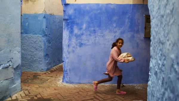 Una niña marroquí en la región de Tetúan
