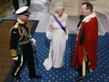 El príncipe Carlos y Camilla, a su llegada al Parlamento inglés