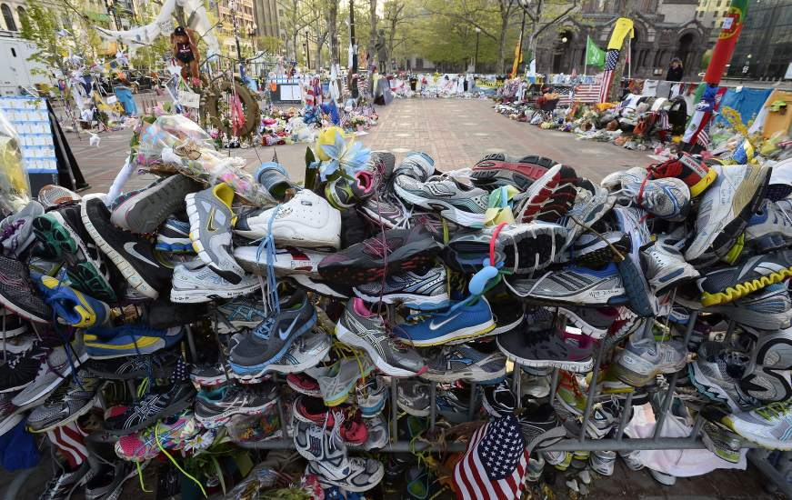 Mensajes de condolencia en Boston