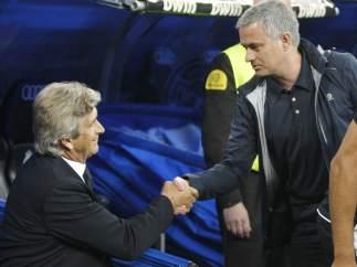 Pellegrini y Mourinho