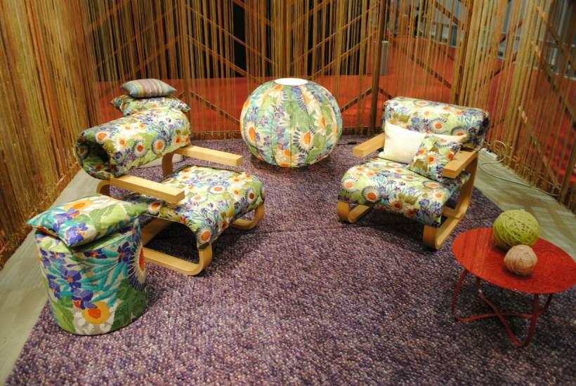 Años 60. Los años 60 estuvieron presentes en el Salón del Mueble de Milán de la mano de la colección de Missoni Home. Perfecto para aquellos nostálgicos que quieran un trozo de los sesenta en el salón de su casa.