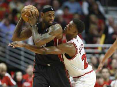 LeBron James y Jimmy Butler