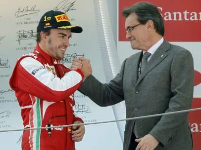 Fernando Alonso y Artur Mas