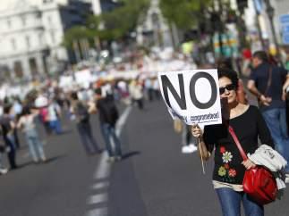 Protestando en soledad