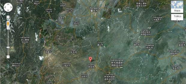 Yaojiaba, China, en Google Maps