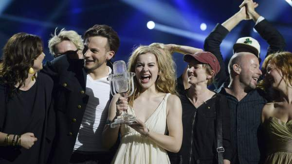 La cantante danesa Emmelie de Forest, ganadora de Eurovisión
