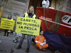 Protesta de Greenpeace en Madrid