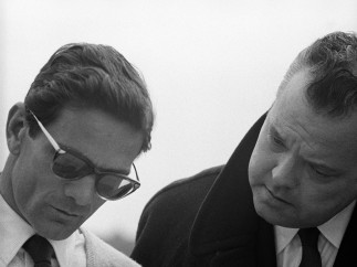 Orson Welles y Pier Paolo Pasolini, 1962