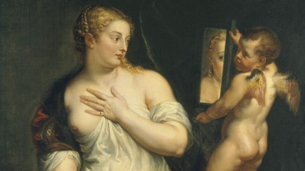 'Venus and Cupid holding a Mirror'
