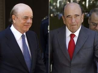 Emilio Botín, Isidro Fainé y Francisco González