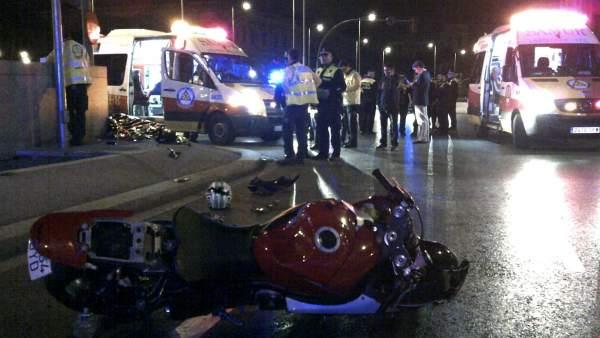 Accidente mortal de moto.