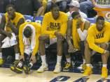 Banquillo de los Pacers, en el encuentro con los Heat