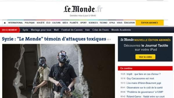 'Le Monde' denuncia ataques químicos en Siria