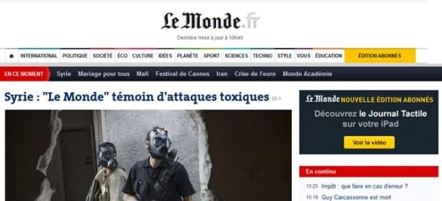 'Le Monde' denuncia ataques qu�micos en Siria