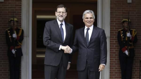 Mariano Rajoy y Werner Faymann