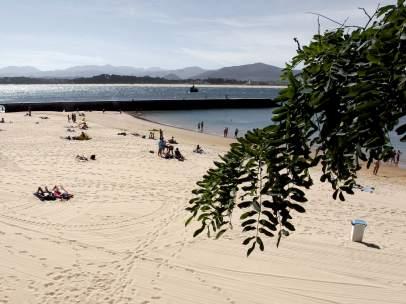 La playa de Bikinis, en Santander, el pasado verano.