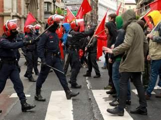 La huelga, en Bilbao