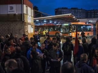 Servicio mínimo de autobuses en Bilbao