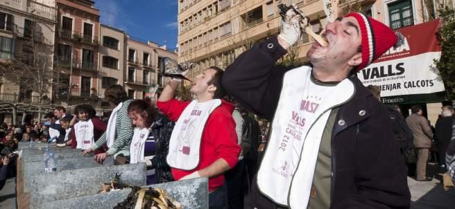 Concurso en la Gran Fiesta de la Calçotada de Valls