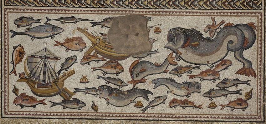 El museo del louvre exhibe el mosaico de lod un asombroso for El mural de mosaicos