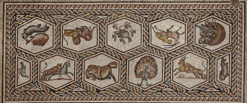 El Museo Del Louvre Exhibe Mosaico De Lod Un Asombroso Bestiario Romano Siglo III