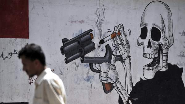 Día contra el tabaco en Saná