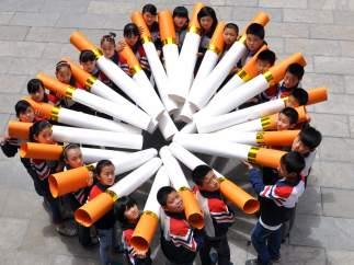 Actos contra el tabaco, en China