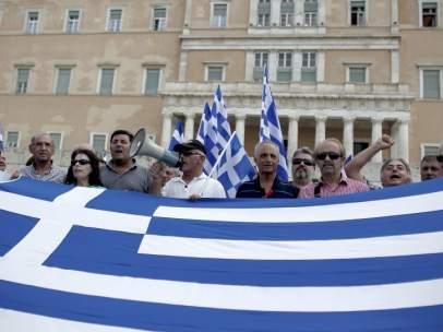Protesta en Grecia