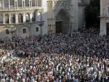 Miles de personas protestan por las v�ctimas del metro de Valencia